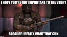 Sweet Weapons Video games off Fallout Tips, Fallout Funny, Fallout Art, Fallout Comics, Best Gaming Setup, United We Stand, Gaming Memes, Funny Games, Dieselpunk