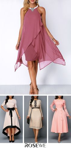 Buy Now - Pink Dress 2019 - Spring Summer Dress - # Vestidos Vintage, Vintage Dresses, The Dress, Pink Dress, Pink Fashion, Fashion Dresses, Cute Dresses, Short Dresses, Groom Dress