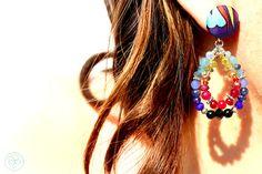 Orecchini blu in seta turca con pendenti : Orecchini di barbara-del-rio
