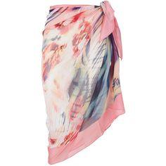 Maryan Mehlhorn Floral Sarong ($200) ❤ liked on Polyvore featuring swimwear, cover-ups, swim sarong, silk sarong, maryan mehlhorn, sarong cover ups and floral print swimwear