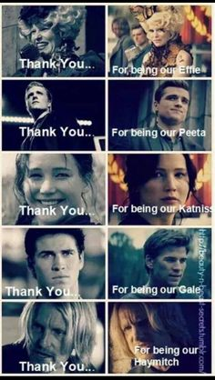 The Hunger Games: Catching Fire - Effie Trinket, Peeta Mellark, Katniss Everdeen, Gale Hawthorne, Haymitch Abernathy The Hunger Games, Hunger Games Memes, Hunger Games Fandom, Hunger Games Catching Fire, Hunger Games Trilogy, Katniss Everdeen, Katniss And Peeta, Johanna Mason, Percy Jackson