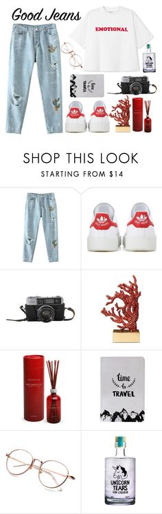 """""""Untitled #352"""" by mariana-fifi-cardoso ❤ liked on Polyvore featuring adidas Originals, L'Objet and Archipelago Botanicals"""