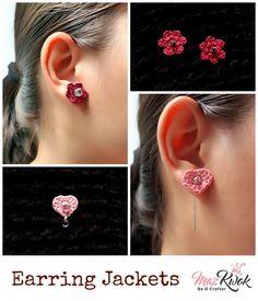Red Crochet Bohemian earrings girl wonderful gift idea for women