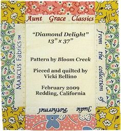 Vicki Bellino, Quilting with the Experts, Marcus Fabrics #quilt #label