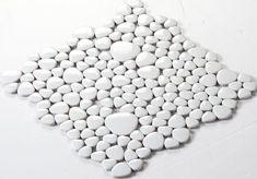 porcelain pebble tile white bathroom 3d floor tiles kitchen backsplash glazed ceramic mosaics fambe FS1713 swimming pool pebbles mosaic wall tiles