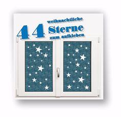 Great Wandtattoo Sterne Weihnachten Aufkleber Sticker Winter Dekoration eBay