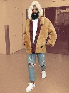 nice It's Time to James Harden Your Winter Coat Nba Fashion, Fashion Models, Mens Fashion, Fashion Shoot, Streetwear Fashion, Mr Beard, James Harden, Date Outfit Casual, Christian Men