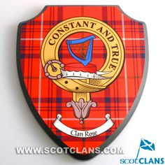 Rose Clan Crest Wall Plaque
