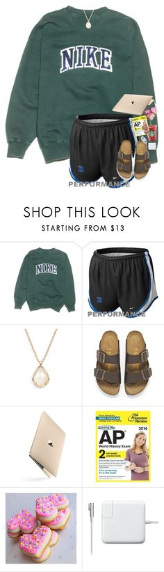 """""""History day project at Starbucks"""" by skmorris18 ❤ liked on Polyvore featuring NIKE, Kendra Scott, Birkenstock, women's clothing, women, female, woman, misses and juniors"""