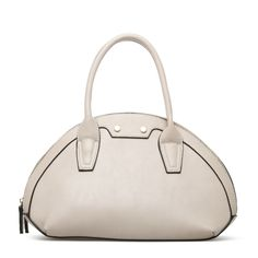 Creamy white structured handbag or satchel. So summery and ladylike.
