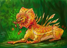 Orchid Dragon by catsandscales on DeviantArt