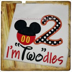 Im Twodles Two dles birthday Shirt mickey boy by AuntieDonnas