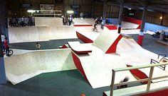 indoor skateboard parks - Google Search Skate Decks, Skate Park, Outdoor Furniture, Outdoor Decor, Bmx, Skateboarding, Sun Lounger, Parks, Backyard