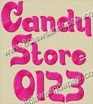 Candy Store Font 3 Sizes Alphabet Embroidery Design @ 8Claws