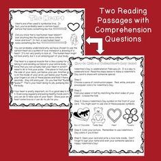 Valentine's Day Activities - Reading, Writing, and Math Activities