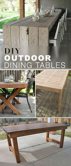 These DIY outdoor dining table projects will blow you away! Explore this blog post and check out the tutorials, ideas and projects for these gorgeous DIY Outdoor Dining Tables! #DIYoutdoordiningtables #outdoordiningtables #DIYdiningtables #DIY #diningtables #diningtableprojects Patio Diy, Diy Outdoor Table, Diy Outdoor Furniture, Diy Table, Diy Furniture, Outdoor Decor, Antique Furniture, Rustic Furniture, Outdoor Projects