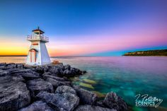 Lion's Head Evening by Trevor Pottelberg on ~ Ontario, Canada Manitoulin Island, Landscape Photos, Dusk, Lions, Places To Go, Sunrise, Canada, Lighthouses, Photography