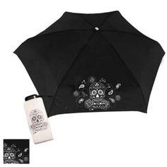 H 145 'Skull & Rose' Micro Flat Umbrella
