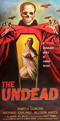 The Undead (1957) Original Three Sheet Movie Poster