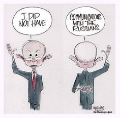 Not telling the truth marks you as a BIG LIAR! - Attorney General Jeff Sessions met with the Russian envoy twice last year, even though Sessions testified during his confirmation hearings that he did not. Political Satire Cartoons, Best Cartoons Ever, Jeff Sessions, Attorney General, Caricature, Funny Photos, Politics, Shit Happens, Humor