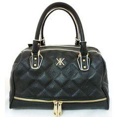 KARDASHIAN KOLLECTION Quilted Bowler Handbag Black
