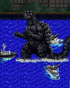 Director Gareth Edwards' feature film version of Godzilla has found its way onto CineFix's 8-Bit Cinema web series. This one was done really well. Back in 1989, Godzilla actually had an 8-bit game released for the Nintendo Entertainment System. I went ahead and included a video with gameplay footage of that. So if you really want to play an 8-bit version of Godzilla... it actually exists!