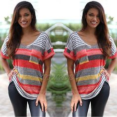 Fashion-Summer-Women-Loose-Short-Sleeve-Top-Blouse-Ladies-Casual-Tops-T-Shirt