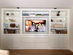 Like The Amount Of Storage Space But Donu0027t Like Design Of  Shelving/cupboards · Storage In Living RoomBuilt ...