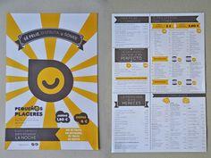 Diseño de imagen corporativa y aplicaciones para el Concept Bar Pequeños Placeres