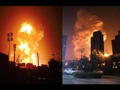 Breaking News – Massive Explosion In Tianjin, China [Video] - A massive explosion has been reported in the Chinese city of Tianjin. Video of the blast shows people, kilometres away, hit by a huge shockwave.