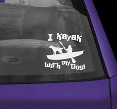 Kayak Accessories Diy Kayak With Dog Decal - Kayaking With Dogs, Kayaking Gear, Kayak Camping, Canoe And Kayak, Kayak Fishing, Outdoor Camping, Kayak Dog, Camping Hacks, Kayak Decals