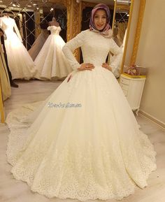 Dress Outfits Formal The Bride - Dress Muslimah Wedding Dress, Hijab Wedding Dresses, Wedding Dress Styles, Bridal Dresses, Flower Girl Dresses, Formal Dresses, Girly Outfits, Dress Outfits, Wedding Dress Pictures