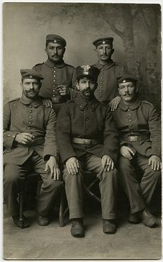 Landsturm German soldiers WW1.
