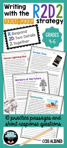Writing challenges bundle pinterest student work students and crazy easy way to get kids to master short response printable no prep worksheets are perfect for writing test prep fandeluxe Gallery