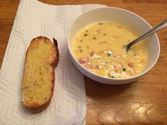 Cheesy Bacon Corn Chowder Recipe  Ingredients:  4 tablespoons of butter 1/2 onion, chopped 6 slices of bacon cut into pieces 1 1/2 of bell pepper diced (to add color you can use a mix of red, yellow, orange) 2 jalapeño peppers 4 cups of frozen or fresh corn 1/4 cup of all-purpose flour 3 cups of chicken broth 2 cups of half-and-half 1 cup of shredded Monterey Jack 1 cup of either cheddar (or pepper jack depending on how spicy you want it) 1/3 cup of sliced green onions Salt and pepper to…