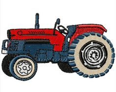 Tractor designs machine embroidery