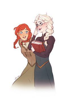 Frozen - Queen Elsa x Princess Anna - Elsanna Frozen Characters, Disney Cartoon Characters, Disney And Dreamworks, Disney Pixar, Frozen Fan Art, Frozen And Tangled, Disney Frozen, Frozen Heart, Frozen Anime