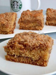 Comoju: Bizcocho con Crujiente de Canela / Starbucks Classic Coffee Cake Just Cakes, Cakes And More, Starbucks, Cake Cookies, Cupcake Cakes, Cupcakes, Bon Ap, Pie Cake, Bakery Recipes