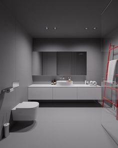 House in Olsztyn, Poland. Project is made by Tamizo Architects (Lodz, Poland)Visualization by Terodesign ( Krakow, Poland ) Interior Design Examples, Interior Design Inspiration, Bathroom Inspiration, Home Decor Styles, Cheap Home Decor, Tamizo Architects, Contemporary Bathroom Designs, Home Decor Fabric, Bathroom Interior Design