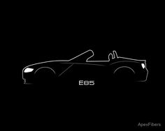 Convertible Brustroke' Poster by ApexFibers Car Silhouette, Bmw Z4, E30, Automotive Design, Exotic Cars, Convertible, Classic T Shirts, Originals, Inspired