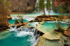 Havasu Falls, Havasupai Canyon, AZ - make reservations on-line or by phone before you head for the campgrounds ....