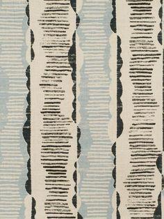 """Thomas Callaway """"Da Da Stripe"""" printed linen is a perfect choice for a relaxed space."""