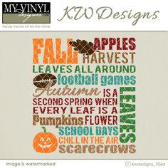 DIGITAL DOWNLOAD ... Fall Vector in AI, EPS, GSD, & SVG formats @ My Vinyl Designer #myvinyldesigner #kwdesigns