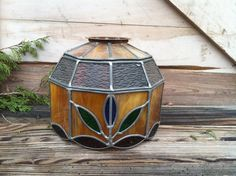 Vintage Stained Glass Lamp Shade or by happydayantiques on Etsy, $62.50
