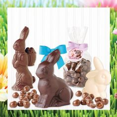 Easter Delight - Solid Chocolate Bunnies available at http://www.longgrove.com
