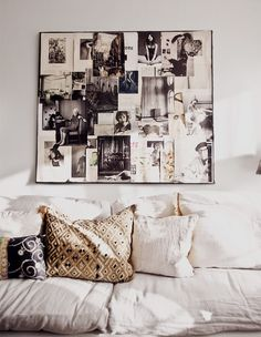 Chic way to display pictures without looking too collage-y