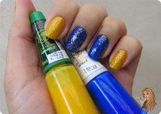 Esmaltes Ludurana Azulle, Amarelo e Fio de Ouro