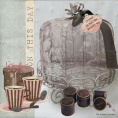 Da Vince Mesh Cake dome & French painted steel stand from The Vintage Suitcase