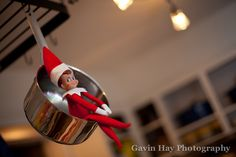 Elf on a Shelf - Swinging in the measuring cups, pots & pans