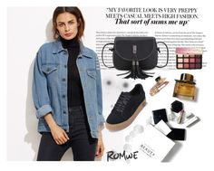"""""""Romwe 9/I"""" by decor4 ❤ liked on Polyvore featuring H&M, Burberry and Sephora Collection"""
